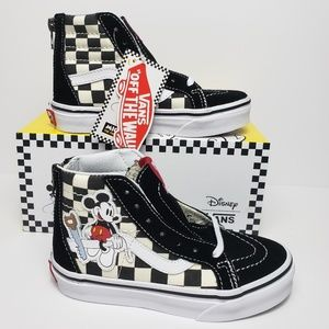 Vans Kid's SK8-Hi Zip Disney Mickey Checkerboard